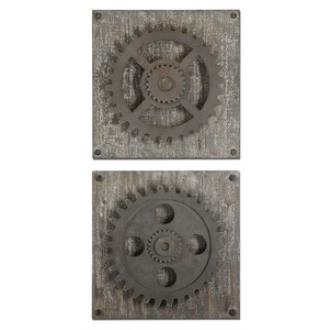 "Uttermost 13828 Rustic - 17"" Gears - (Set of 2)"