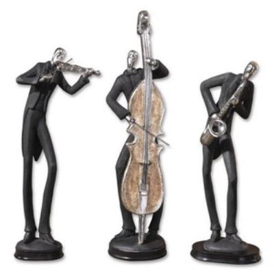 "Uttermost 19061 Musicians - 18"" Decorative Figurine (Set of 3)"