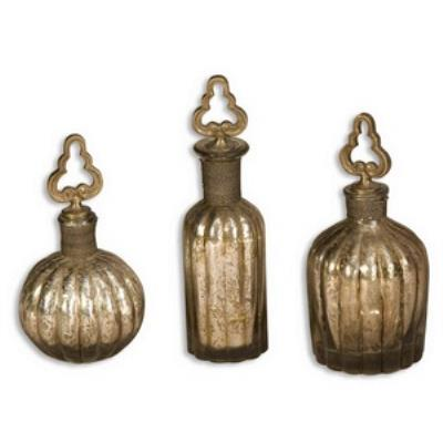 Uttermost 19141 Kaho Perfume Bottle - Set of Three