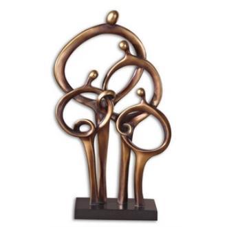 """Uttermost 19340 Family Connection - 14"""" Decorative Sculpture"""