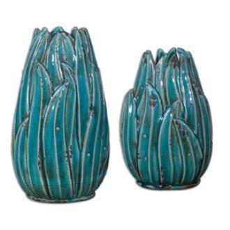 "Uttermost 19820 Darniel - 8"" Ceramic Vase - Set of 2"