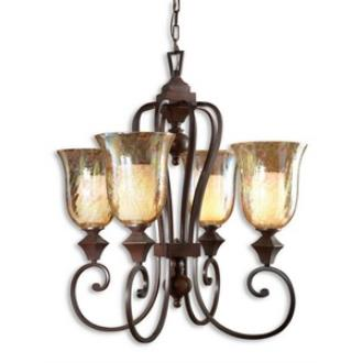 Uttermost 21050 Elba - Four Light Chandelier