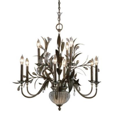 Uttermost 21094 Cristal De Lisbon - Eleven Light 2-Tier Chandelier