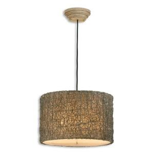 Knotted Rattan - Three Light Pendant