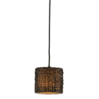 Uttermost 21832 Knotted Rattan - One Mini Pendant