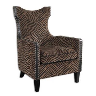"Uttermost 23003 Kimoni - 42.75"" Wing Arm Chair"
