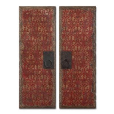 Uttermost 35002 Red Door Panels - Set of Two