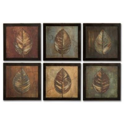 "Uttermost 50890 New Leaf - 13.375"" Framed Art Panel (Set of 6)"